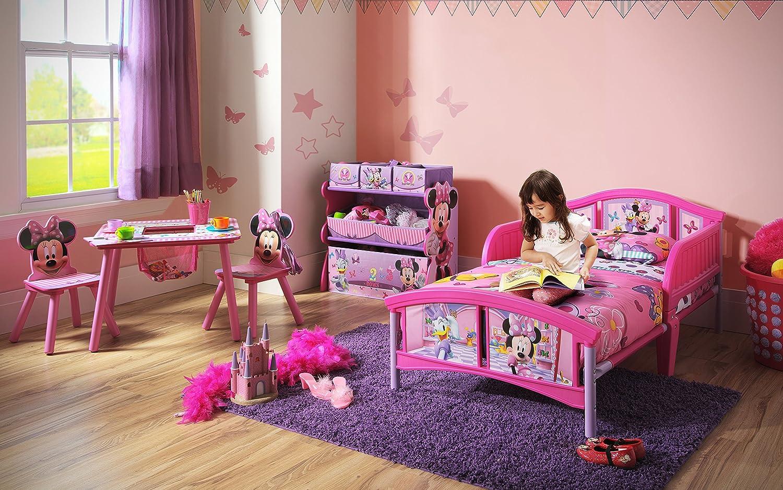 Amazon.com : Delta Children Plastic Toddler Bed, Disney Minnie ...