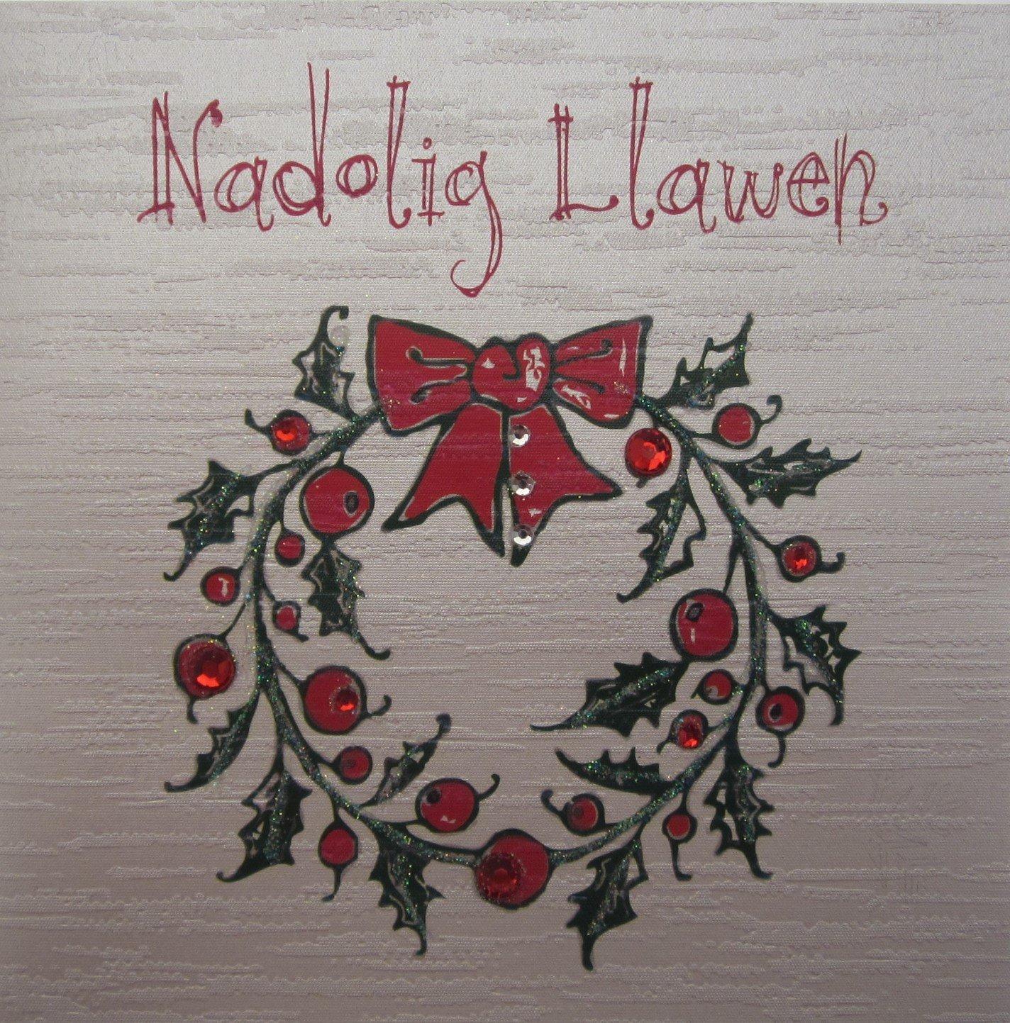 Nadolig llawen handmade welsh christmas card wreath amazon nadolig llawen handmade welsh christmas card wreath amazon kitchen home kristyandbryce Image collections