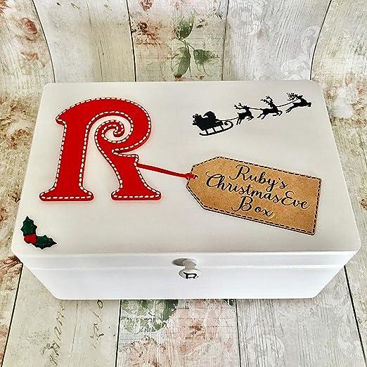 Caja de madera de Navidad Eve, personalizable poema interior de la ...