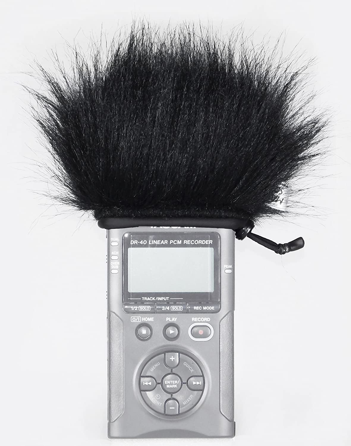 Master Sound Tascam DR-40, Windscreen Muff for recorder Tascam DR-40 to protect the record from the wind, easy to put on hand recorders, made in the EU from certified, materials Master Sound l.t.d. WSR Tascam DR40