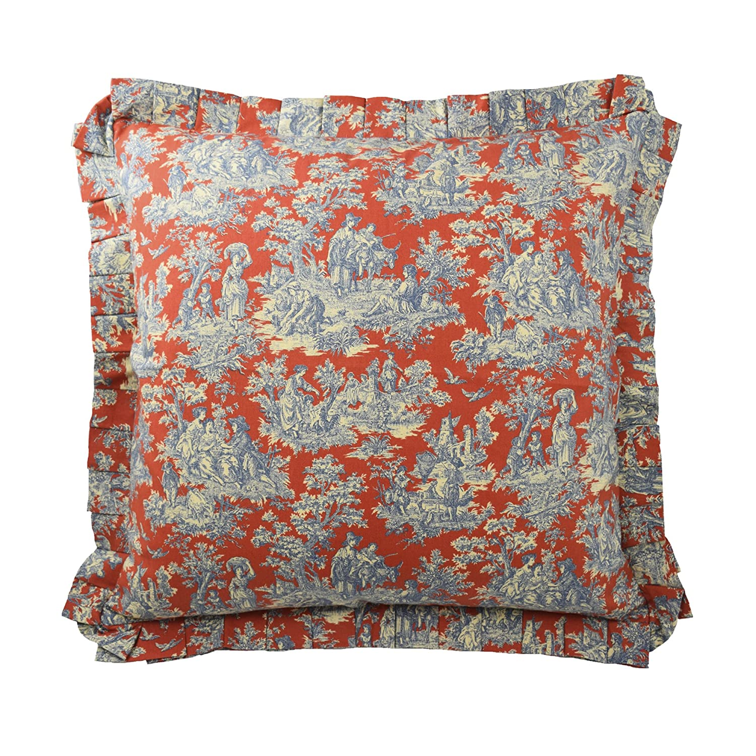 Waverly 14923026X026HTB Sanctuary Rose Euro Pillow Sham, Heritage Blue, 26x26 26x26 Ellery Homestyles