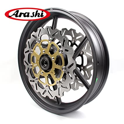 Amazon.com: Arashi Front Wheel Rim and Brake Disc Rotors for ...