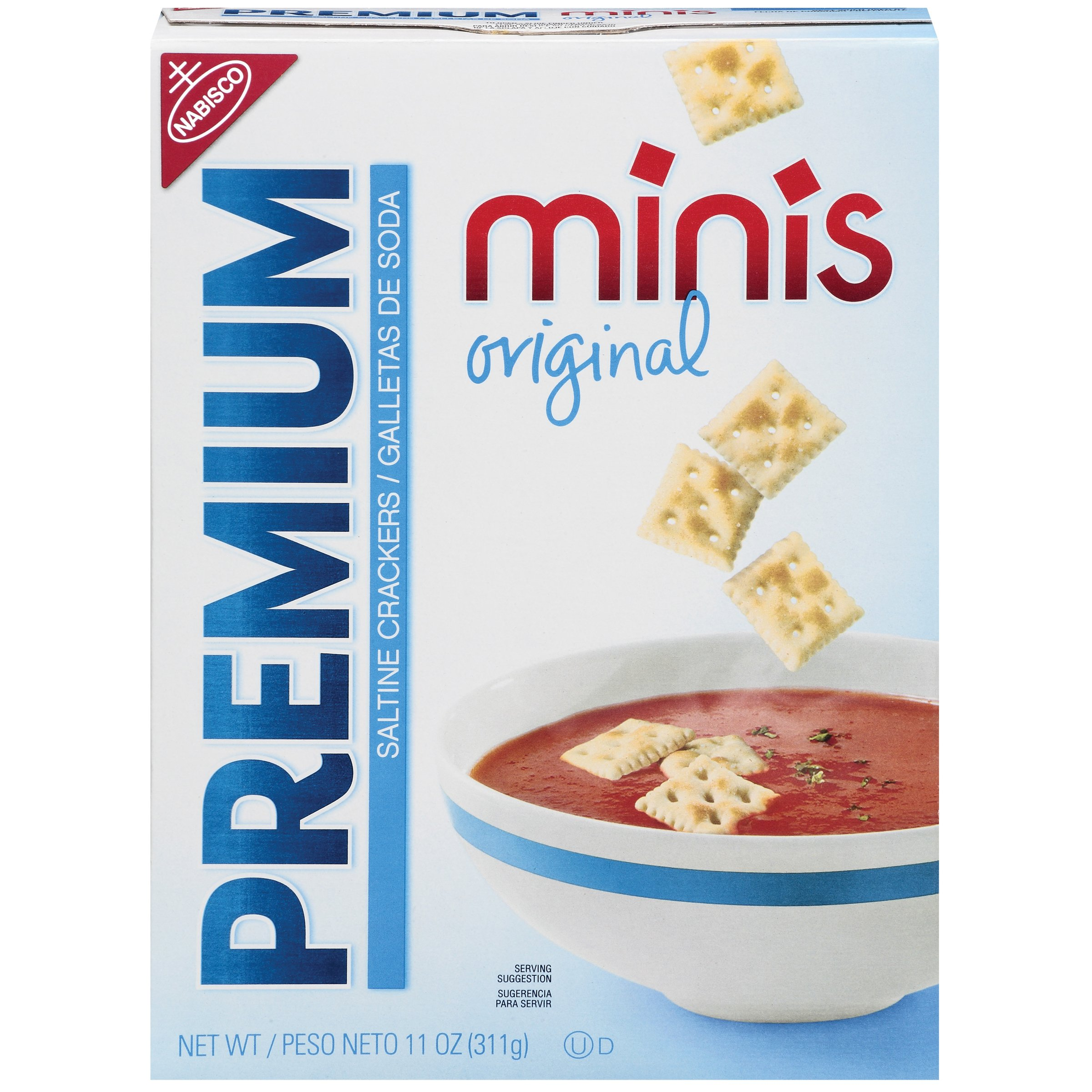 Premium Minis Saltine Crackers, Original, 11 Ounce by PREMIUM