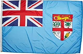 product image for Annin Flagmakers Model 192573 Fiji Flag Nylon SolarGuard NYL-Glo, 4x6 ft, 100% Made in USA to Official United Nations Design Specifications