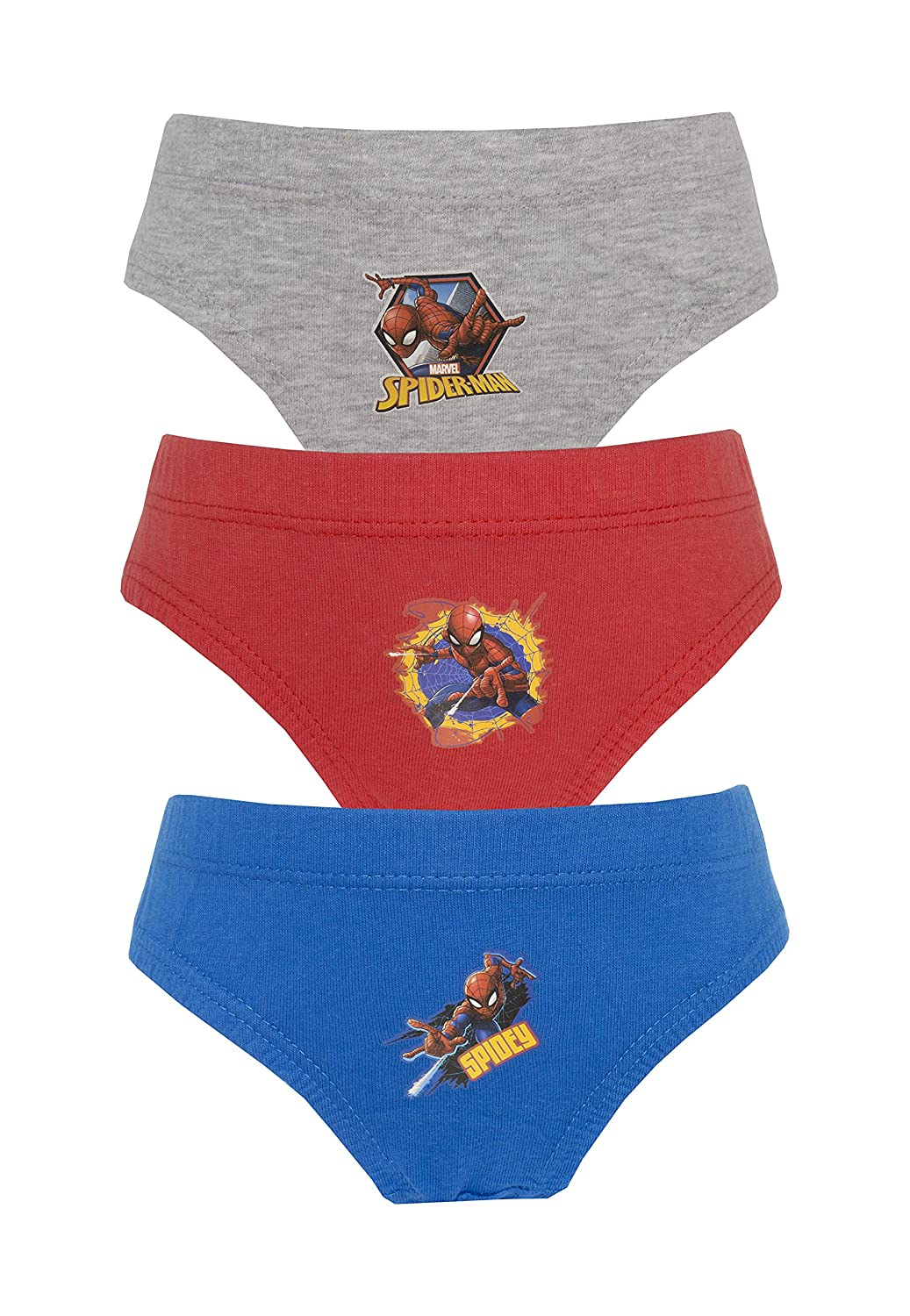 Cartoon Character Products 3 Pack Marvel's Spiderman Boys Pants/Briefs, Sizes 2-8 Years