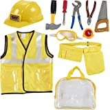 Construction Costume, Includes Tool Belt, Hard Hat, and Vest (10 Pieces)