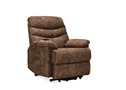Stupendous Domesis Olathe Paisley Wall Hugger Power Lift Reclining Chair Machost Co Dining Chair Design Ideas Machostcouk
