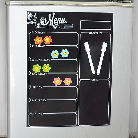 Magnético frigorífico pizarra para cocina con lista y notas ...
