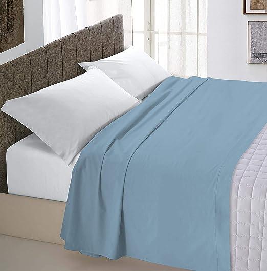 Italian Bed Linen Max Color Sábana Encimera, 100% Algodón, Azul (Celeste), 240x300 cm: Amazon.es: Hogar