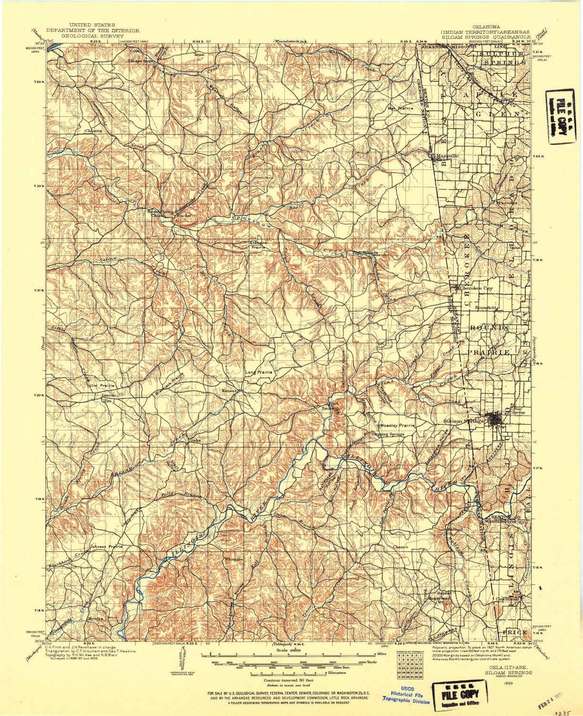 Amazon.com : YellowMaps Siloam Springs OK topo map, 1:125000 ...
