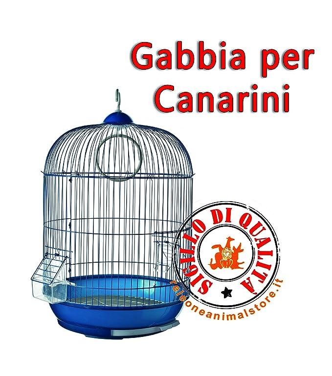 Jaula completa para canarios Vercelli Azul 53 X 33 ferribiella ...