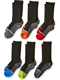 Fruit of the Loom boys 6-pair Half Cushion Crew Socks Casual Sock
