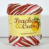 Peaches & Creme (Cream) Cotton Yarn Shades of Rust 2 oz.