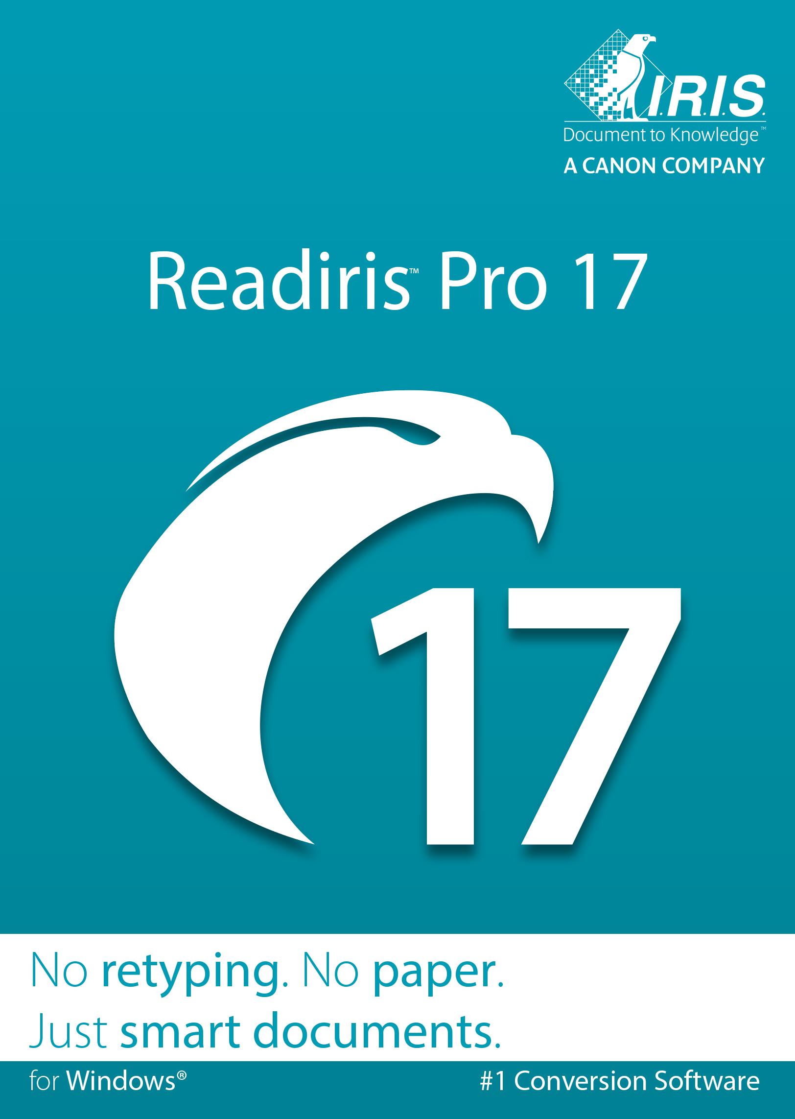 Readiris Pro 17 for Windows - Conversion software [Download]