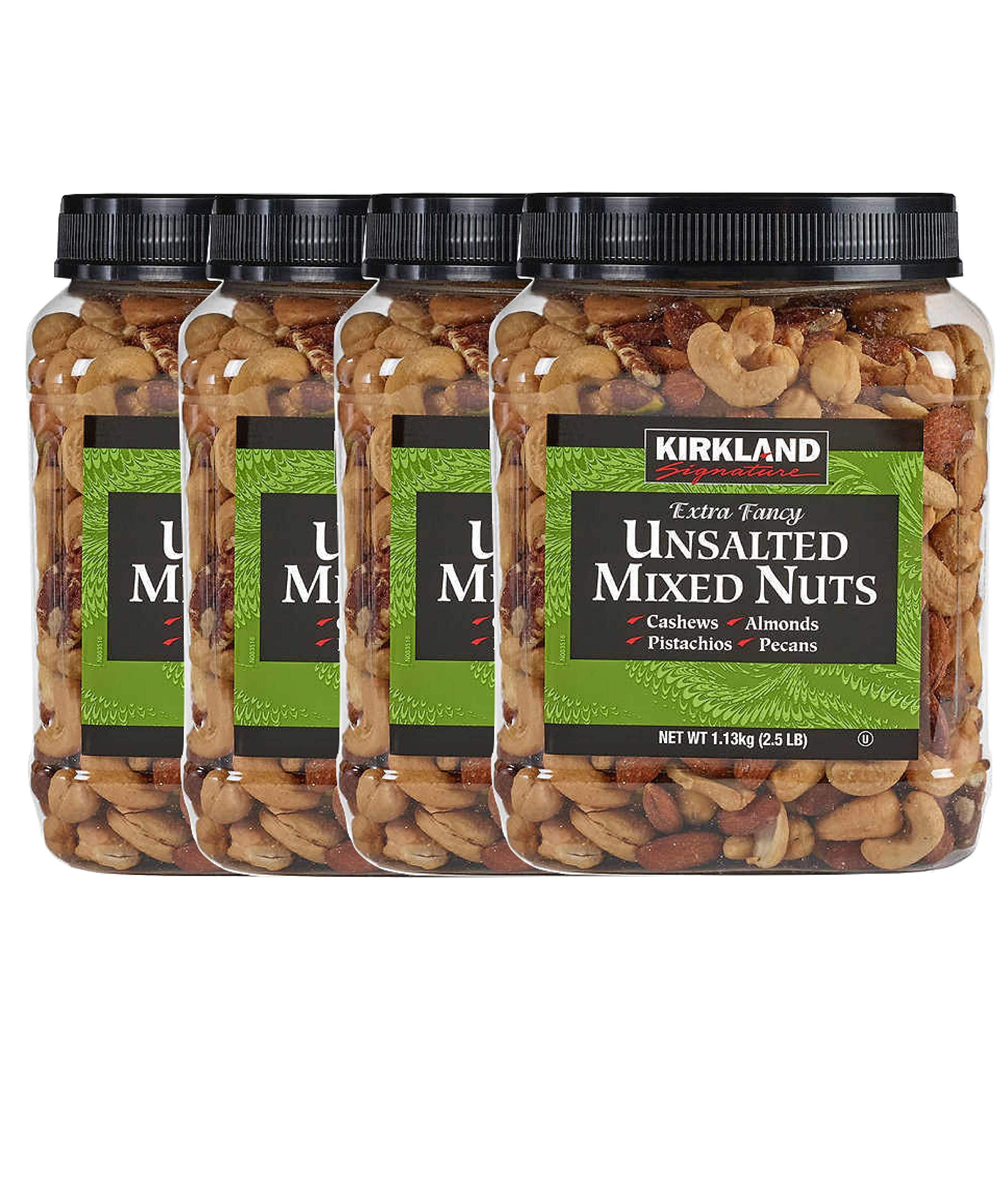 Kirkland Signature Extra Fancy Mixed Nuts, Unsalted and Shelled 40 oz (Pack of 4)