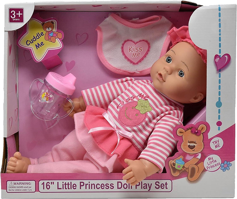 "12 Pieces Diaper Doll Set 12-16"""