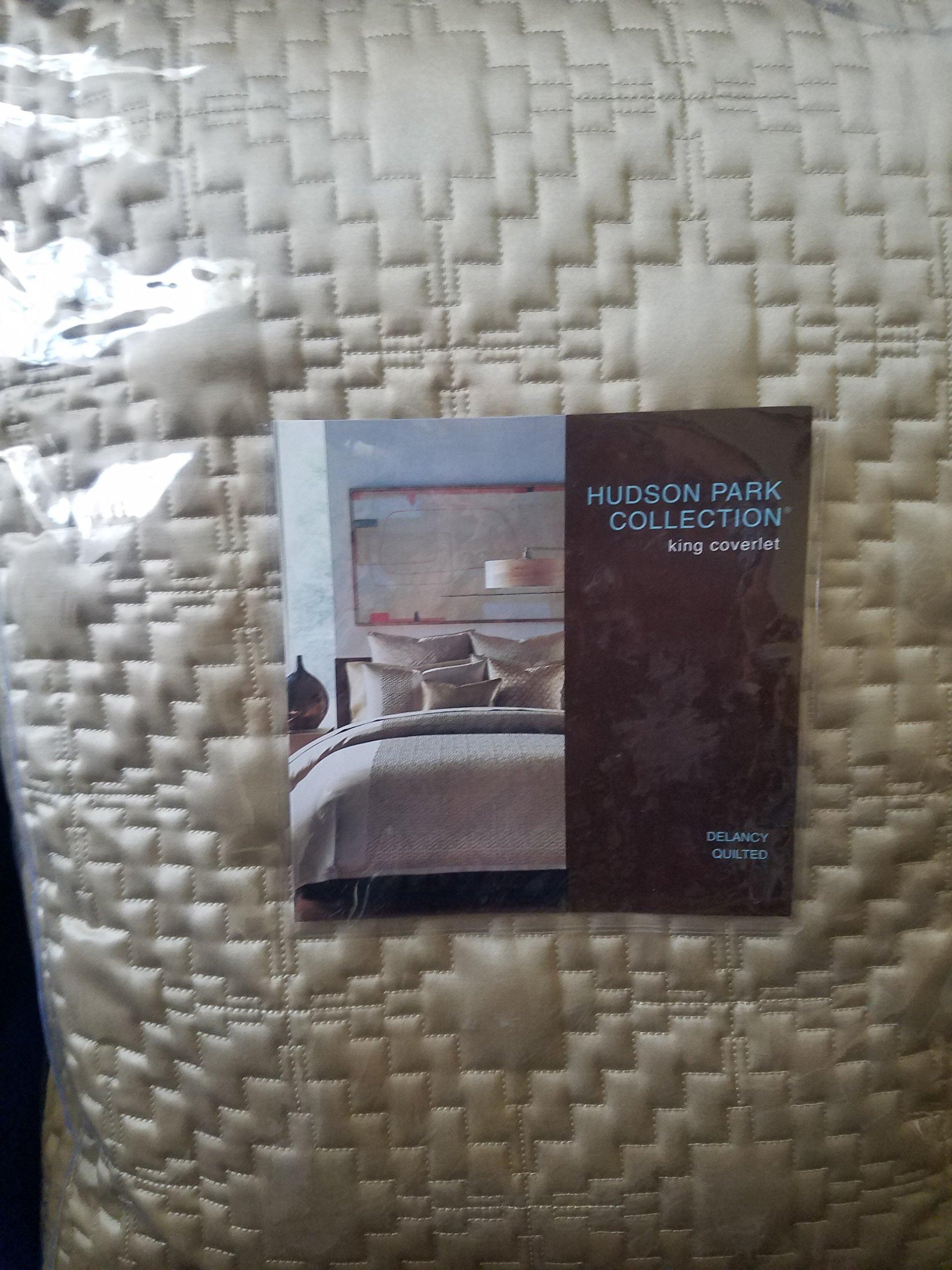 Hudson Park Delancy Quilted KING Coverlet Gold