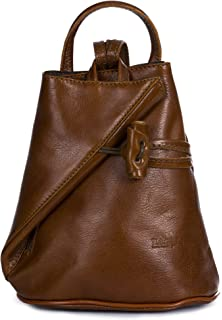 LiaTalia Italian Leather Backpack Shoulder Bag with Sling Convertible Strap  in Medium Large Size - c5286878337ed