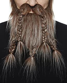Mustaches Self Adhesive, Novelty, Fake Viking Dwarf Beard