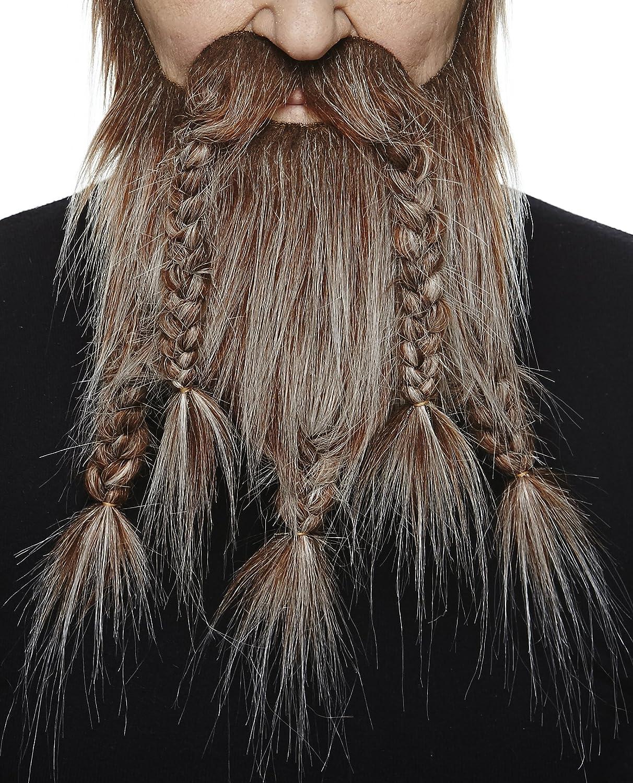 Mustaches Self Adhesive, Novelty, Fake Viking Dwarf Beard Blond Color