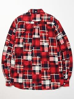 Patchwork Check Buttondown Shirt 11-11-3457-139: Red