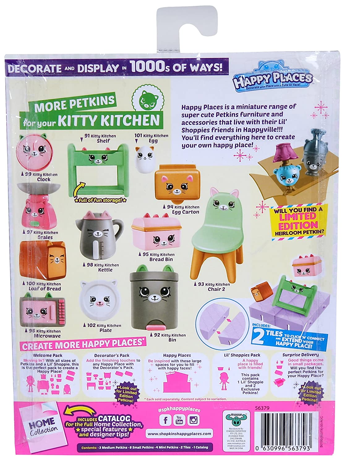 Happy Places Shopkins Decorator Pack Kitty Kitchen Moose Toys 56379