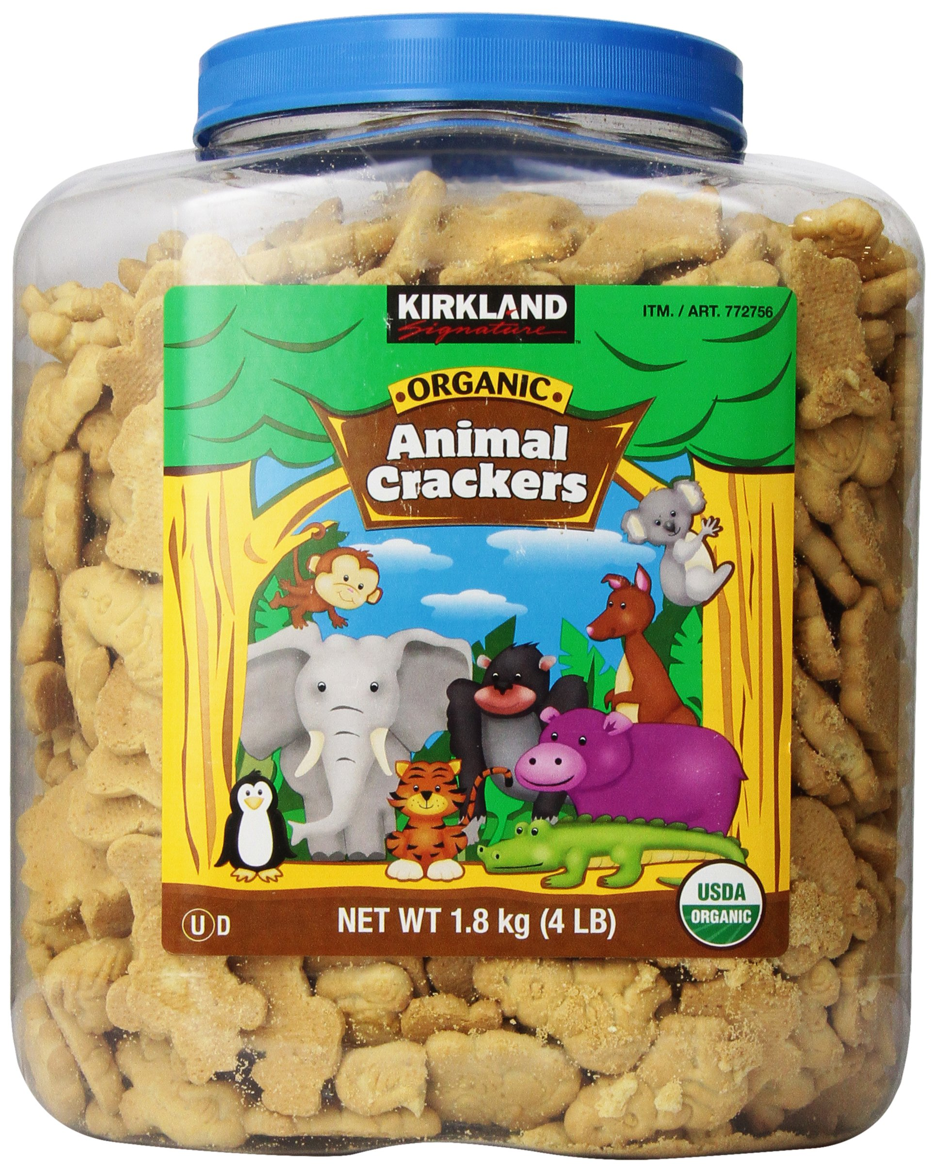 Kirkland Signature Animal Crackers, Organic 4 Pound