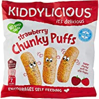 Kiddylicious Chunky Puff, Chunky Strawberry, 12 g