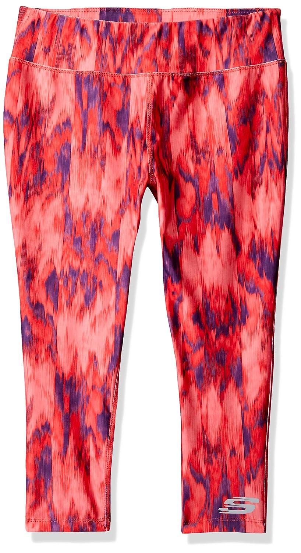Skechers Big Girls' Sport Active Legging, Capri Fiery Coral, Large 0101