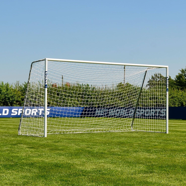 Portería de fútbol Forza Alu60. Portería de aluminio específica de club. Elige tu tamaño de 1,8 m x 1,2 m. Porterías Alu60 duradera y resistente a la intemperie., 3m x 2m (Futsal)