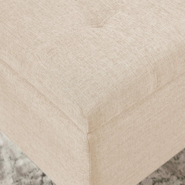 Fine Details About Christopher Knight Home 211234 Santa Rosa Beige Tufted Fabric Storage Ottoman Creativecarmelina Interior Chair Design Creativecarmelinacom