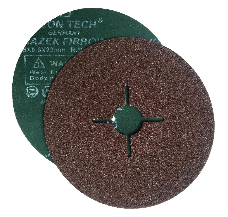 Falon Tech 20 pezzi dischi abrasivi in fibra per smerigliatrice angolare, grana 100