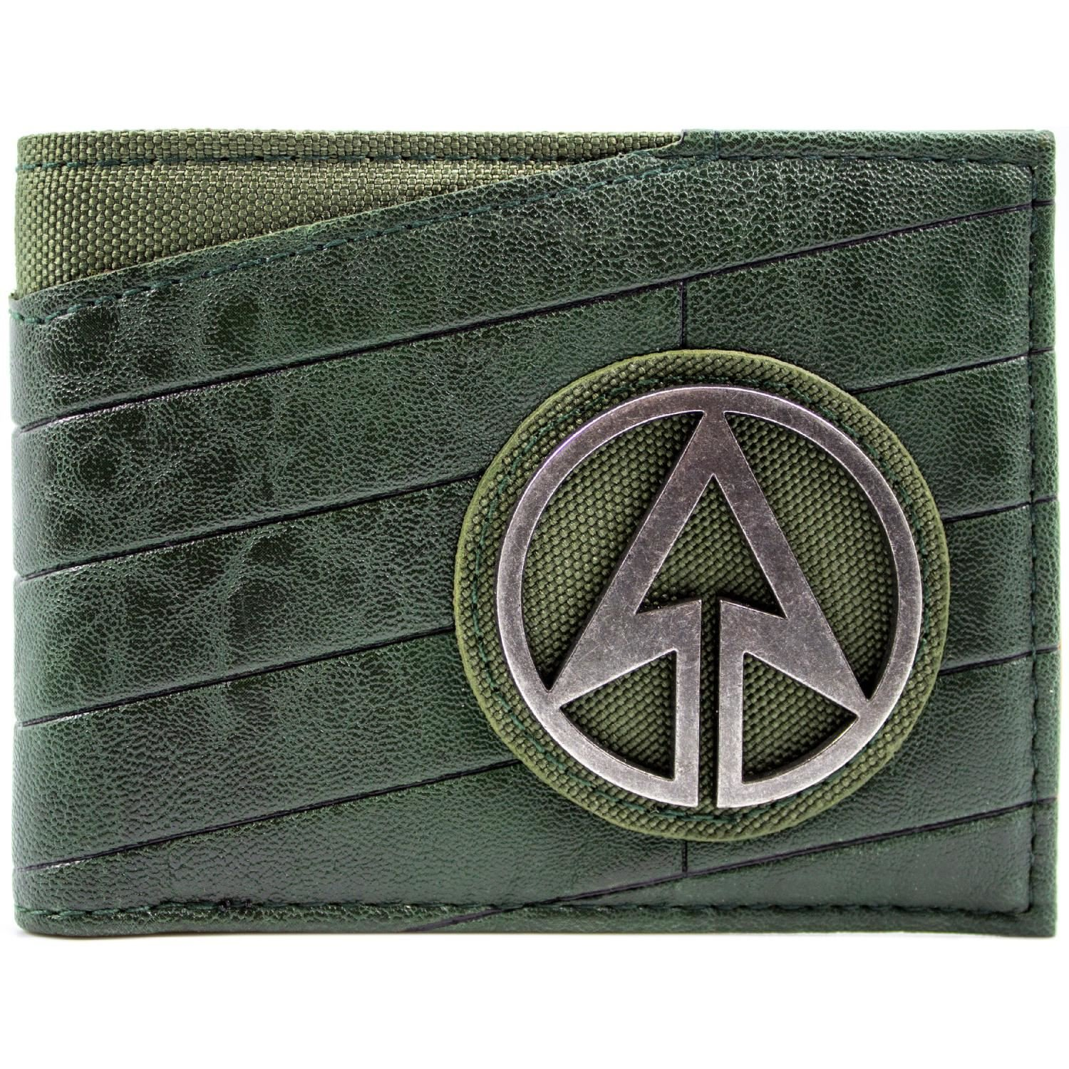 Cartera de DC Comics Arrow Emblema de superhéroes Negro 28771