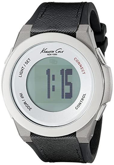 Kenneth Cole New York unisex 10023867 KC CONNECT- tecnología pantalla Digital negro reloj de cuarzo japonés: Amazon.es: Relojes