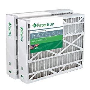 FilterBuy 24.5x27x5 Trane American Standard BAYFTFR24M FLR06071Compatible Pleated AC Furnace Air Filters (MERV 13, AFB Platinum). 2 Pack.