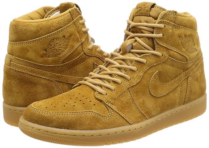 02a0b20e7ea3 Amazon.com  Nike Air Jordan 1 I High Wheat 555088-710 US Size 8  Sports    Outdoors