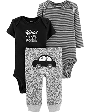 0cd8eff6f Carter's Baby Boys' 3-Piece Little Character Sets (Black/Rollin',