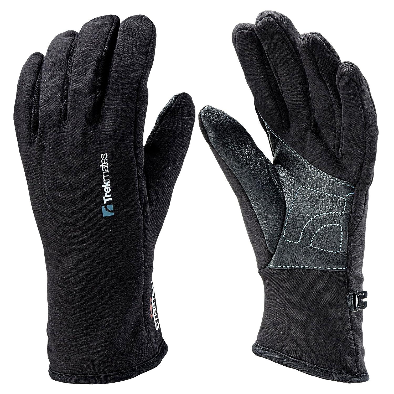 Damen Trekmates Ullscarf M Handschuh Fingerhandschuh Damen Herren Fleece Lederbesatz Bekleidung