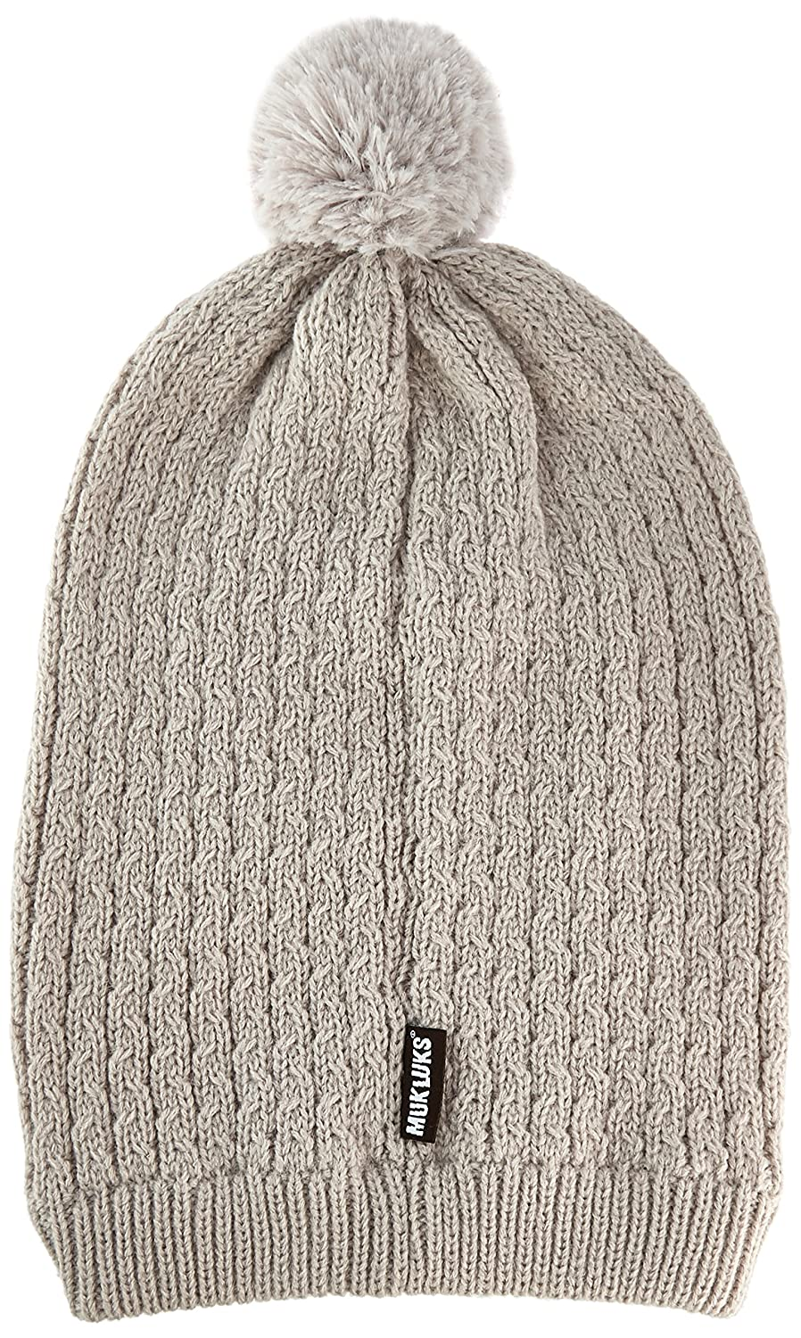 MUK LUKS Womens You are So Beautiful Slouch Beanie-Wavy Cable Light Purple One Size Muk Luks Women/'s Accessories 0034375530-OS