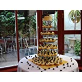 7 Tier 5mm Thick Maypole Acrylic Wedding Party Favour Cupcake Cake Stand by Classikool®