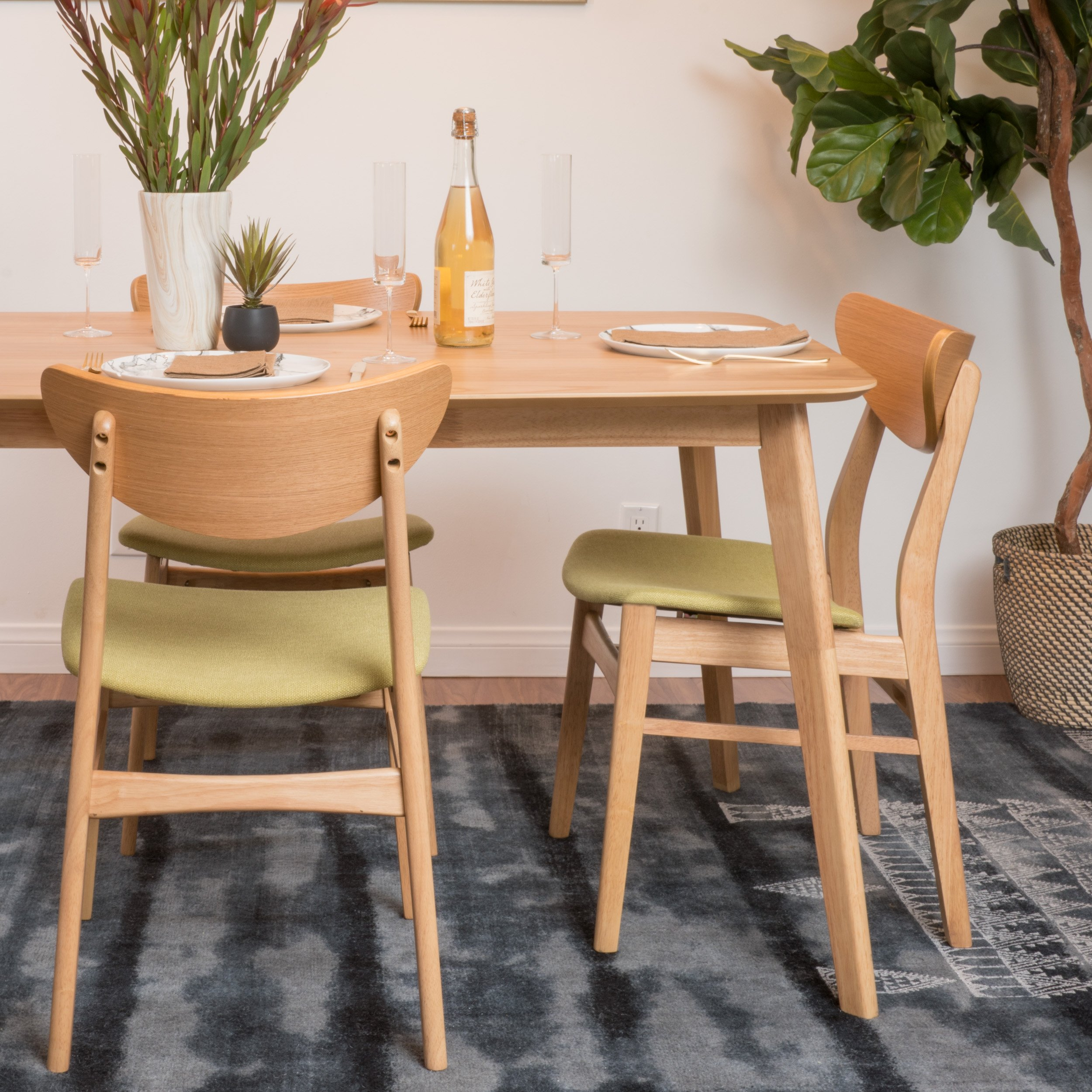Christopher Knight Home 298997 Anise Dining Chair (Set of 2), Green Tea by Christopher Knight Home