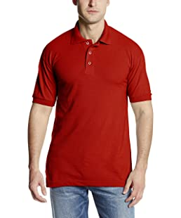 Dickies Men's Short Sleeve Pique Polo, English Red, X-Large