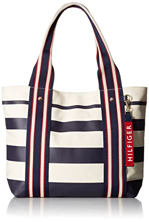 5600d3036d Amazon.com: Tommy Hilfiger Bag for Women Canvas Item Shopper: Clothing