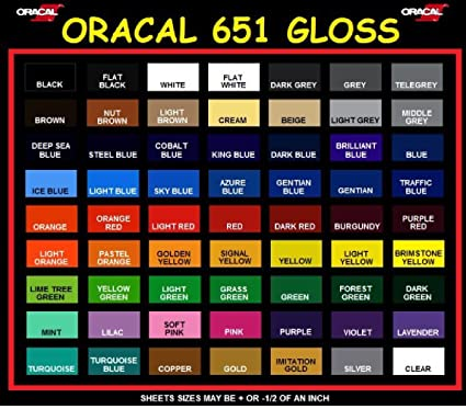 Amazon Oracal 651 All 63 Colors Adhesive Vinyl 12 X 5ft For