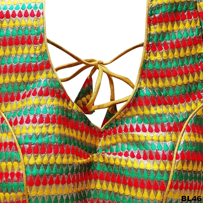 PEEGLI Blusa De Mujer Blusa India Lista Para El Cultivo De Las Mujeres Blusas De Choli Cosidas Saree: Amazon.es: Ropa y accesorios