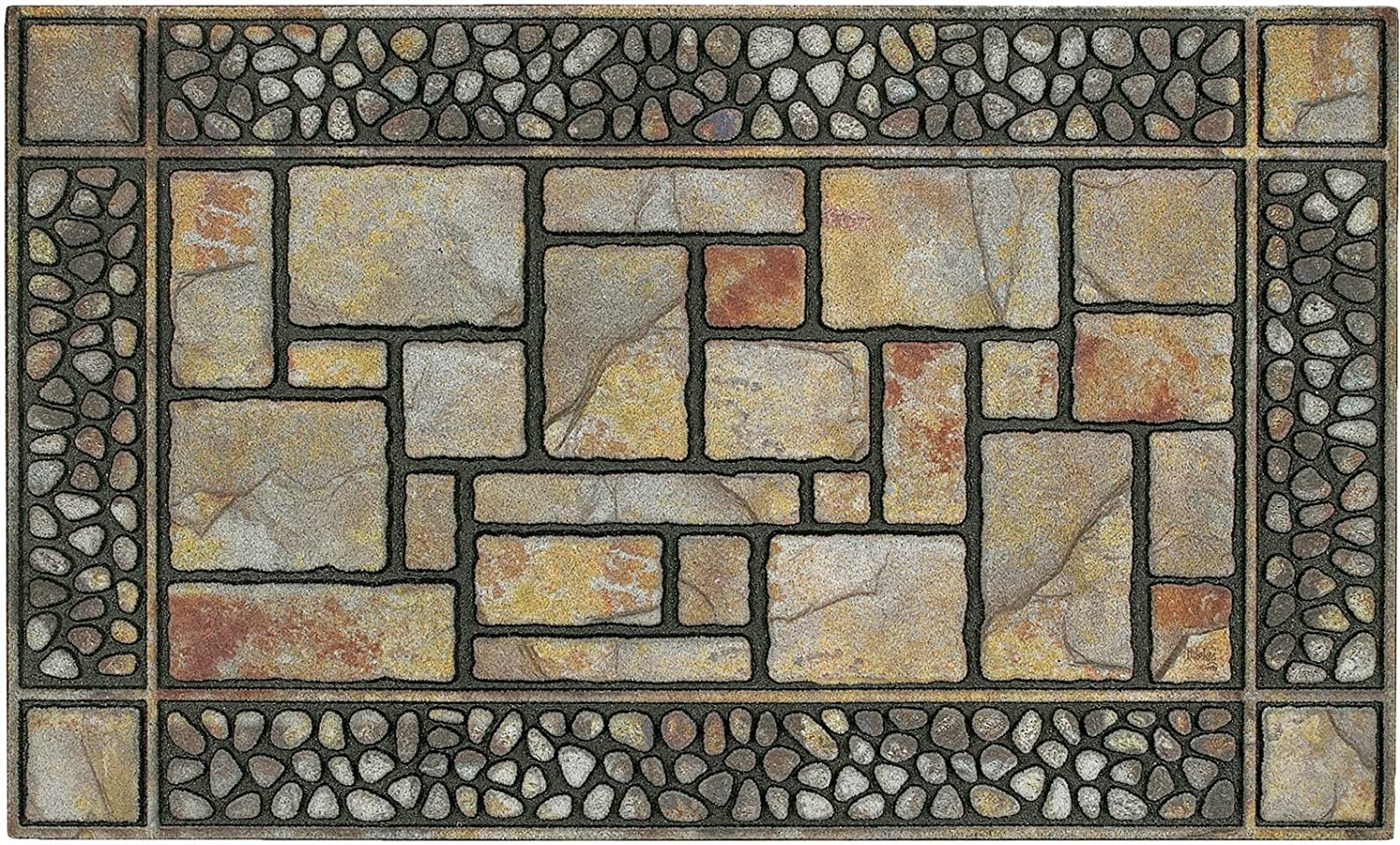 "Mohawk Home 4259 12914 018030 Doorscapes Patio Stones Door Mat, 1'6x2'6, 1'6"" x 2'6"", Brown"