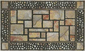 """Mohawk Home 4259 12914 018030 Doorscapes Patio Stones Door Mat, 1'6x2'6, 1'6"""" x 2'6"""", Brown"""