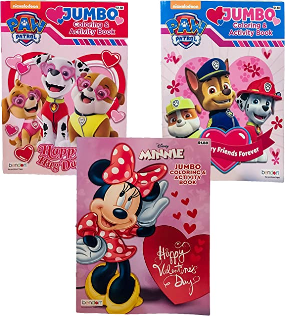 Love Bendon 30234 Disney Minnie Be My Valentine Stickers /& Coloring Book Activity Book with Crayons