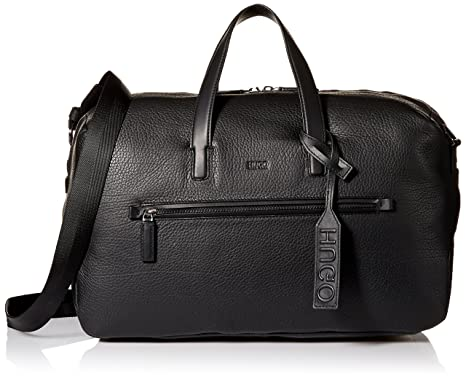 Amazon.com  HUGO by Hugo Boss Men s Victorian Leather Weekender Bag ... 350dc6f1e8b
