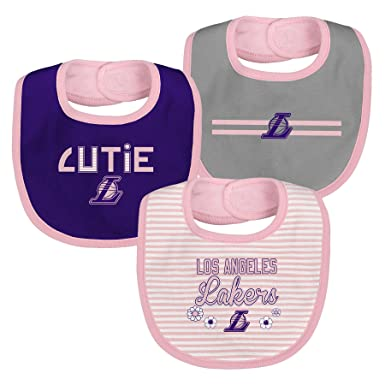 c3eb8d6c1d7c Amazon.com  Los Angeles Lakers Baby Girl Bib Set - 3 Pack  Clothing